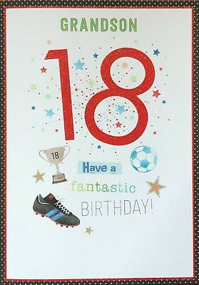 Grandson 18th Birthday Card Beautiful By Wishing Well Verse
