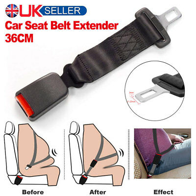 36cm Adjustable Auto Car Seat Belt Extension Extender Safety Support Buckle Kid