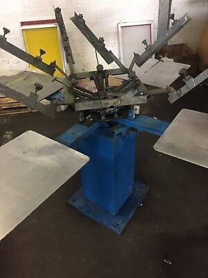 4 Station 4 Colour Screen Printing Machine And Accesories