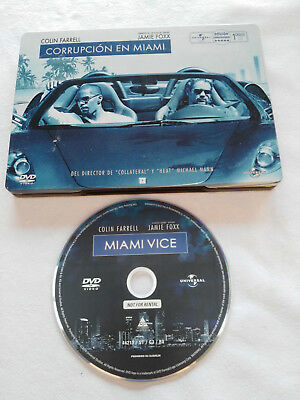 Corrupcion En Miami Vice Colin Farrell Dvd Steelbook + Extras Español English