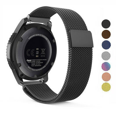 For Samsung Gear S3 Frontier / Classic Replacement Metal Milanese Band Strap