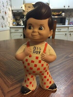 "Vintage 1973 Big Boy 9"" Vinyl Coin Bank"
