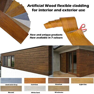 ✔️ ARTIFICIAL Wood SLIPS CLADDING WALL FLEXIBLE TILES Exterior and interior ✔️