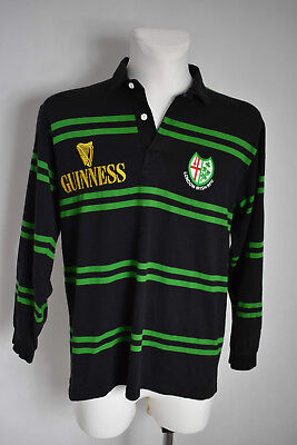 fd45e6d15f4 London Irish Home Rugby Shirt 1996 - 1997 jersey Guinness cotton oxford