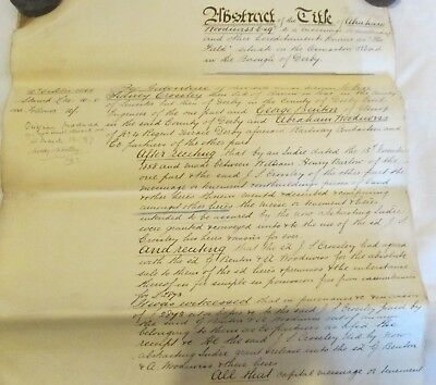 Antique Legal Document - Abstract of the Title - 1866 - Osmaston Rd, Derby
