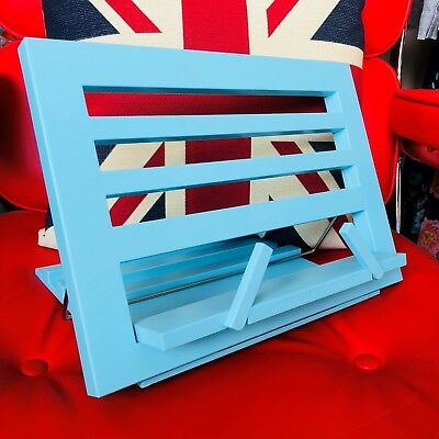 THE BRILLIANT READING REST - DUCK EGG BLUE. Book Holder Display Stand. Brand New