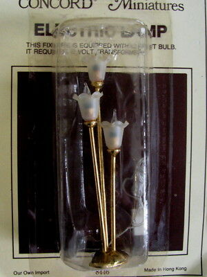 NEW Sealed Dollhouse Miniature Lighting Electrical Tulip Light Vtg Lamp 12 Volt
