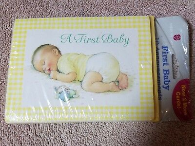 AGC A First Baby Announcement Note Cards & Envelopes - Set of 10 Blue Yellow