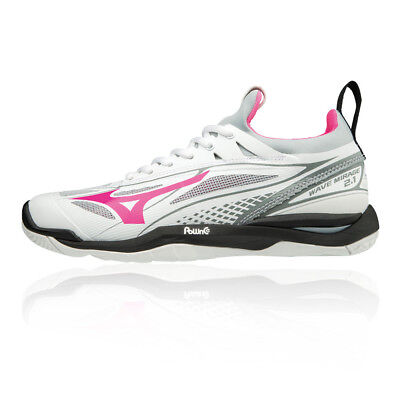 Mizuno Womens Mizunon Wave Mirage 2.1 Indoor Court Shoes Black White Sports