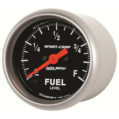 Autometer 3310 Sport-Comp Fuel level Gauge 2-1/16 in., Electrical