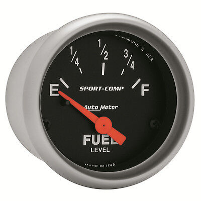 Autometer 3314 Sport-Comp Fuel level Gauge 2-1/16 in., Electrical