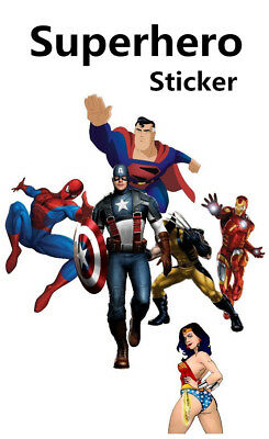 Superhero Vinyl stickers batman iron man spiderman captain america wander woman