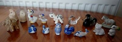 Collection of 16 Vintage Miniature Collectable Figurines inc Wade Whimsies