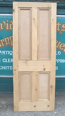 4316 Old reclaimed Victorian stripped pine four panel door