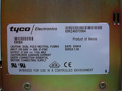 GE Tyco Lucent 596B4 S1:3A PWPQAUNAAC 24VDC 100A Rectifier