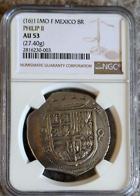 Mexico Ngc Au53 1611 8 Reales Cob-Finest Graded Dated 8R Before 1732-Magnificent