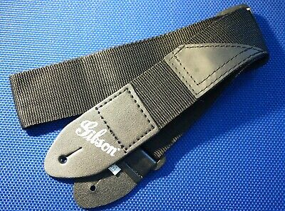 Gibson Black Nylon GUITAR STRAP for Les Paul Tribute HP Accessories