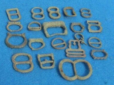 FANTASTIC Lot of Bronze Buckles  Artefacts, Ancient to Post Medieval 20