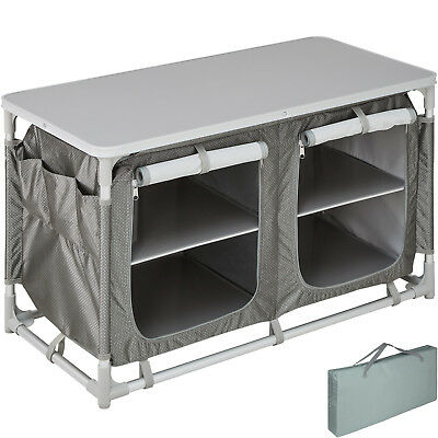 Camping Kitchen Stand Aluminium Storage Unit portable Cooking lightweight
