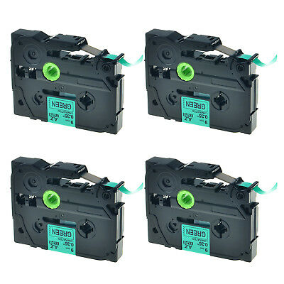 4PK TZ-721 Black on Green Label Tape TZe-721 For Brother P-touch PT-2730 9mm*8m
