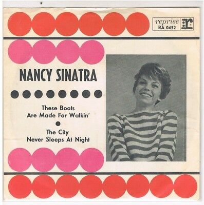 """7"""" - Nancy SINATRA - THESE BOOTS ARE MADE FOR WALKIN´ - german PS 1"""
