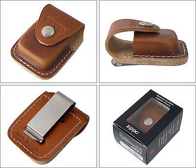 Zippo Lighter Pouch Brown with Clip LPCB Free Shipping Pocket Belt New