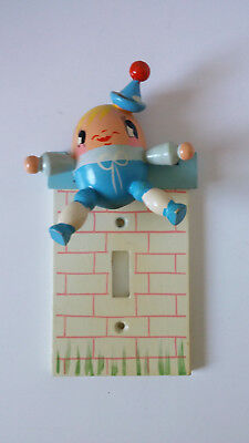 Vintage Irmi Nursery Humpty Dumpty Light Switch Plate Cover, Hand painted