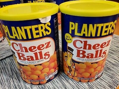 Planters Cheez Balls Lot of 2 2018 Limited Edition Two Full Cans!