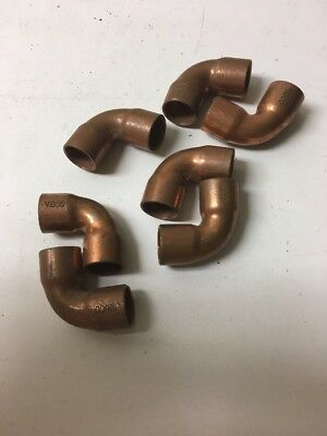 "Lot Of (7) Nibco 1/2"" Copper Elbow Sweat Fittings"