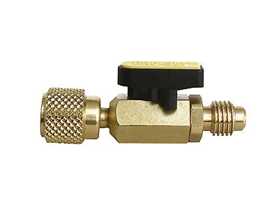 """CPS R134A, Ball Valve, BV12, 1/2"""" ACME, R-134A, 3 Color Handle Inserts"""