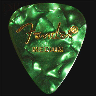 Fender Green Moto Medium Guitar Picks / Plectrums - Choice Of Quantities