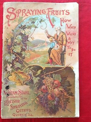 1900 STAHL Excelsior Spraying Outfits SPRAYING FRUITS How When Where Why CATALOG