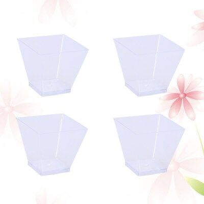 50PCS 60ml Food Grade Plastic Portion Containers Portion Cups for Yogurt Pudding