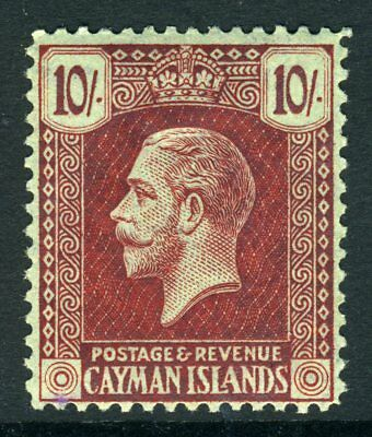Cayman Islands 1921  KGV 10s Dark Carmine Red  SG 67 CV £75  MNH  U848