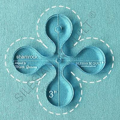 Template for quilting - Shamrock - 3 sizes