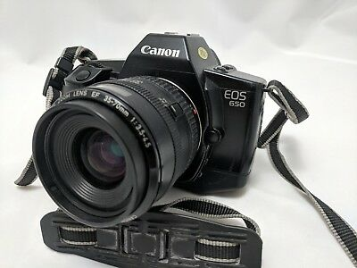 Canon EOS 650 AF 35mm SLR Film Camera with Battery and 35-70mm Zoom Lens
