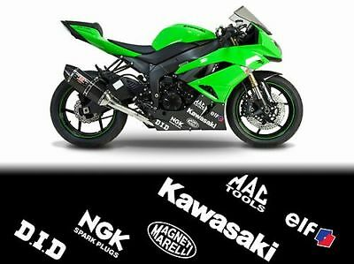 12 x ZX6 ZX6R ZX636 ZX10 ZX10R ZX9 NINJA belly pan fairing decals stickers