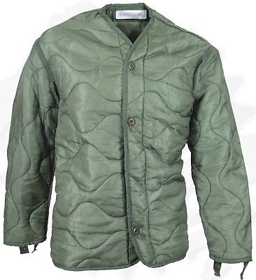 US Army Military M65 Field Jacket Quilted OD Green Coat LINER