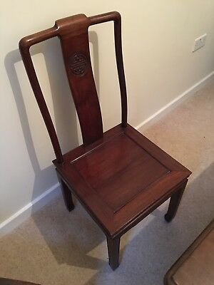 set of 4 Antique Japanese dining chairs