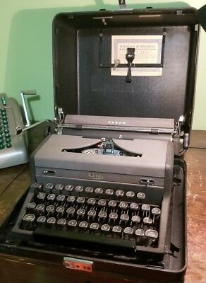 SERVICED Royal Arrow Typewriter NEW RIBBON + extras