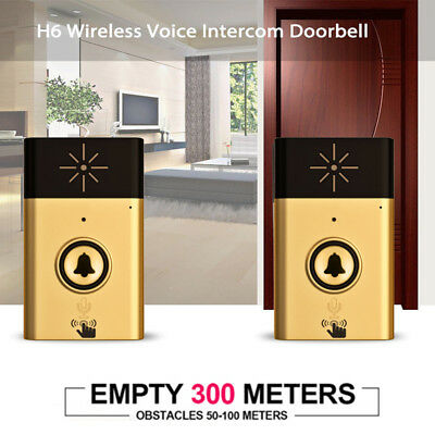 Ring Bell Safety Talk Mobile Interphone Wireless Doorbell Durable 1488