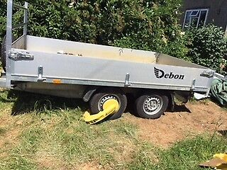 Tipping trailer Debon PW2.2 3 way tipping with loading skids.Cost £4250