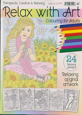 Relax With Art Issue #42 Art Therapy Colouring Book For Adults