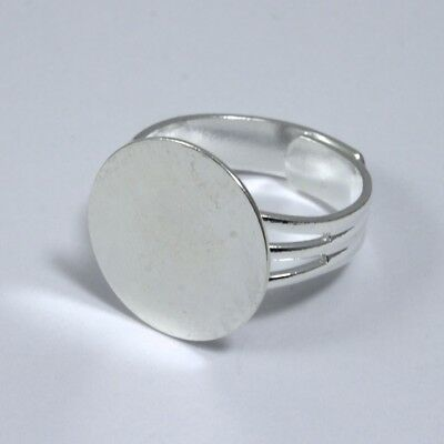 Silver Ring Base with 16mm Pad #MRB013