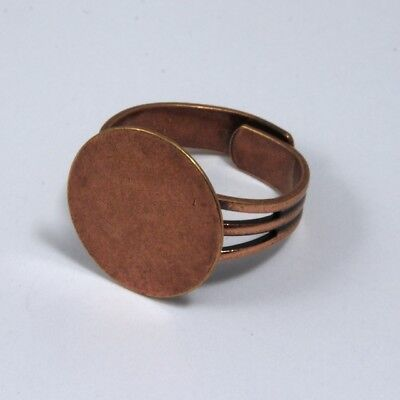 Antique Copper Ring Base with 16mm Pad #MRE013