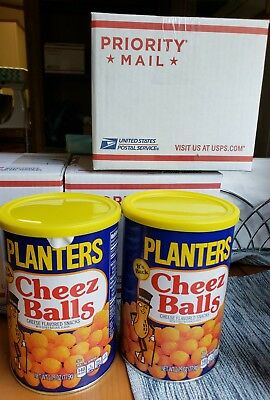 Planters Cheez Balls Cheese Snack New 2018 Limited Edition 2 full cans