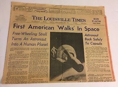 First American Walks In Space The Louisville Times June 3 1965 Newspaper