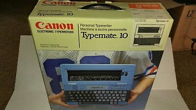 Vintage Canon Typemate 10 Portable Battery Powered Electric Personal Typewriter