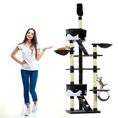 """94""""-102"""" Huge Cat Tree Ceiling High Cat Tower Multilevel Playhouse"""