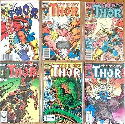 The Mighty Thor #337 - #342 Beta Ray Bill High Grade Lot